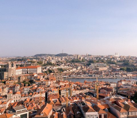 Porto, Portugal, view, lookout of porto, portufal views