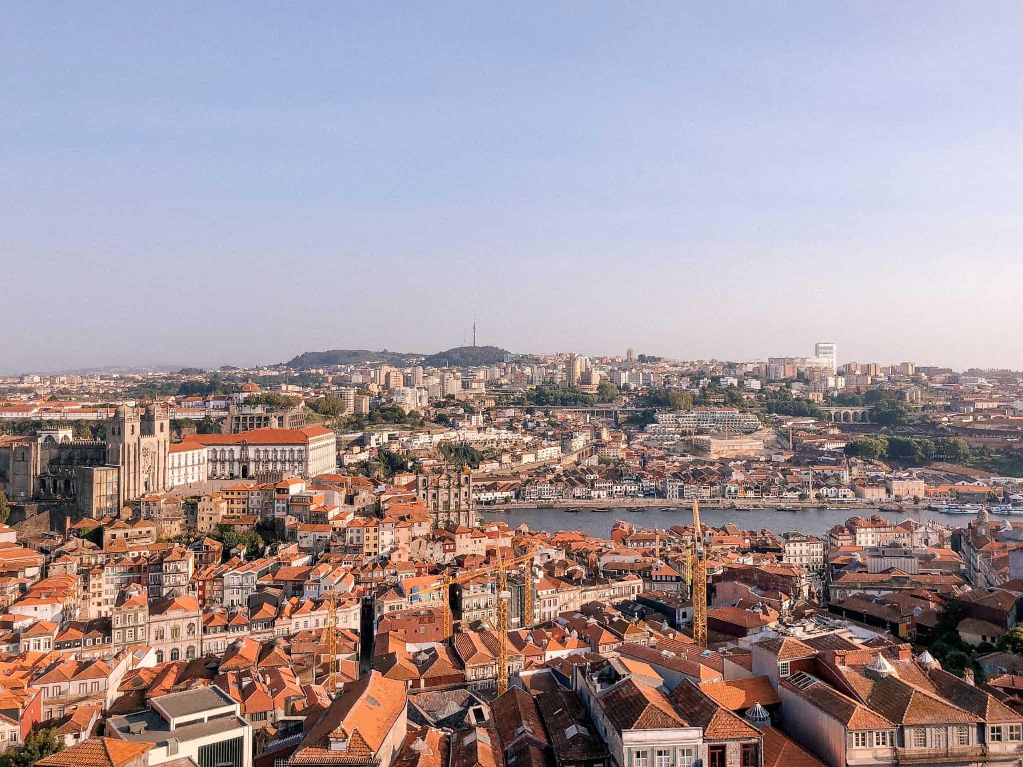 Porto, Portugal, view, lookout of porto, portufal views