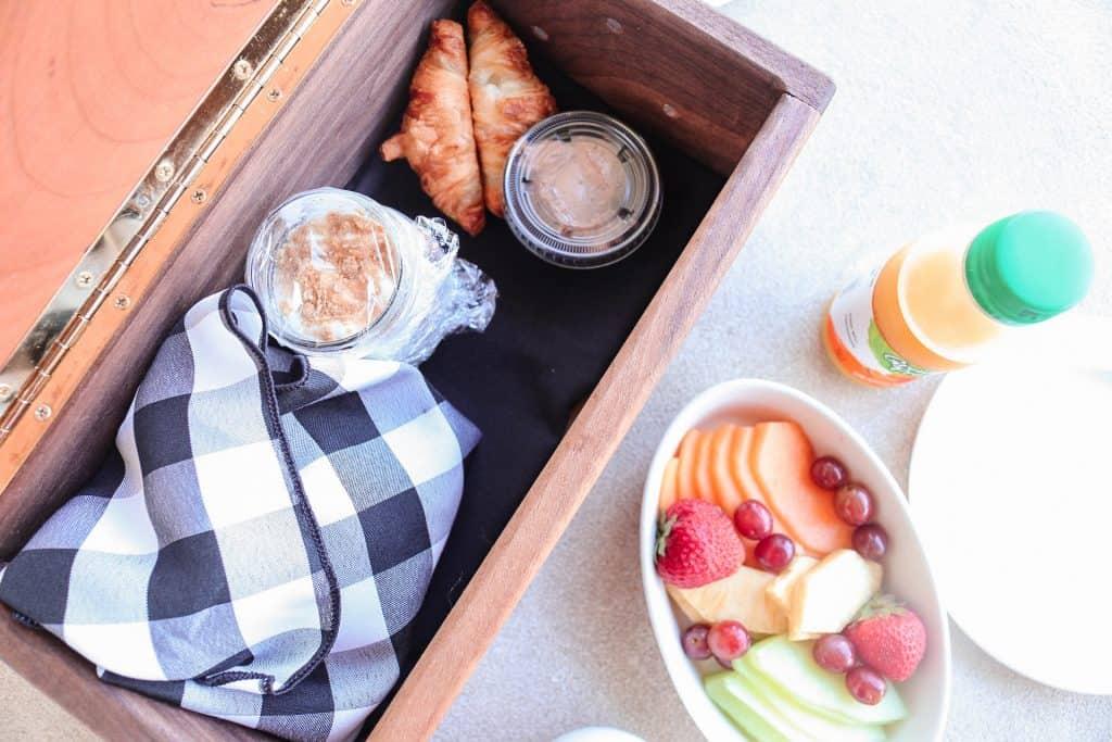The Casa Breakfast - Romantic Gervasi Vineyard Staycation in North Canton, Ohio. The perfect getaway in Ohio.