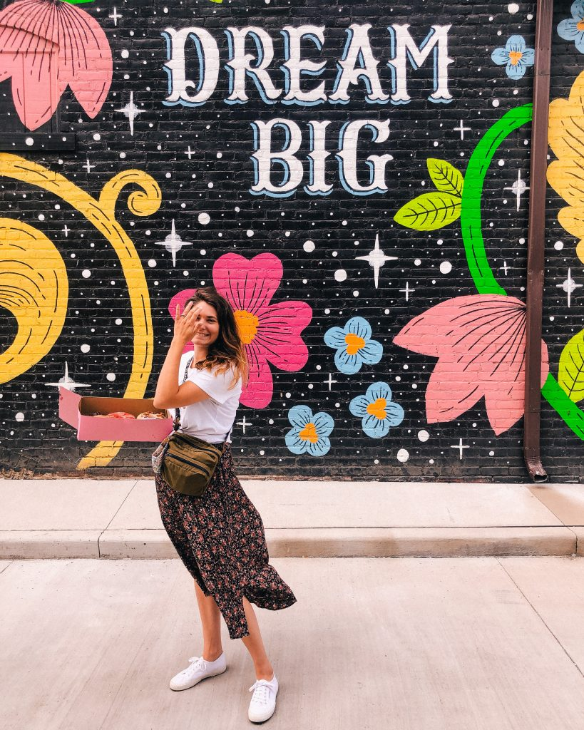 Dream Big Mural in Gordon Square Arts District by the artist Lisa Quine