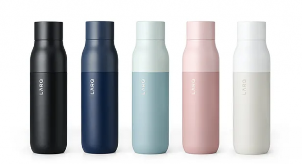 The best water bottle for travelers. LARQ Self-Cleaning Water Bottle