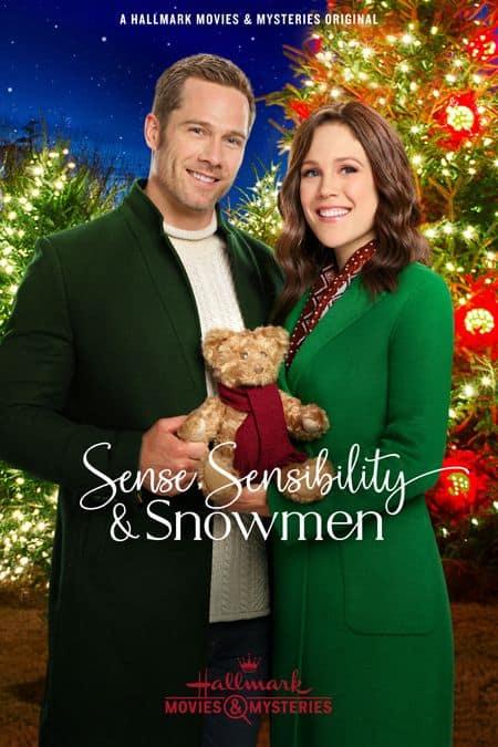 Sense, Sensibility & Snowmen Hallmark movie poster