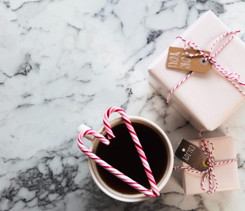 coffee, candycanes and gifts!